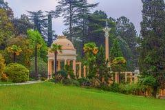 RUSSIA, SOCHI, MAY 1, 2015: Moorish arbor in Sochi Arboretum, Russia, May 1, 2015. Arboretum is a Unique and Famous Landmark in Sochi Stock Images