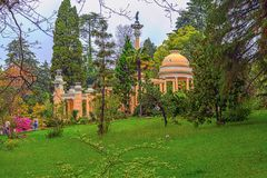 RUSSIA, SOCHI, MAY 1, 2015: Moorish arbor in Sochi Arboretum, Russia, May 1, 2015. Arboretum is a Unique and Famous Landmark in Sochi Royalty Free Stock Photography