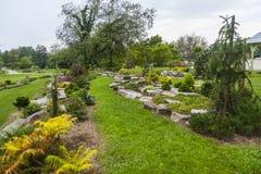 Arboretum Volcji potok, Kamnik Stock Foto