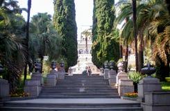 Arboretumen parkerar i Sochi Royaltyfria Foton