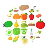 Arboriculture icons set, cartoon style. Arboriculture icons set. Cartoon set of 25 arboriculture vector icons for web isolated on white background Stock Photo