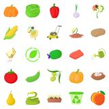 Arboriculture icons set, cartoon style. Arboriculture icons set. Cartoon set of 25 arboriculture vector icons for web  on white background Stock Photo