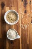 Arborio και thaibonnet ρύζι Στοκ Φωτογραφία