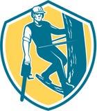 Arborist Climbing Chain Shield van de boomchirurg royalty-vrije illustratie