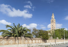 Arbos,Catalonia,Spain. Architecture, half-scale replica of The Giralda in Sevilla in village of Arbos, penedes area, province Barcelona,Catalonia Royalty Free Stock Images