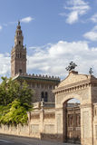 Arbos,Catalonia,Spain. Architecture, half-scale replica of The Giralda in Sevilla in village of Arbos, penedes area, province Barcelona,Catalonia Royalty Free Stock Image