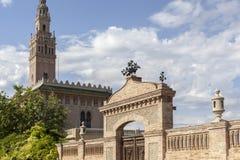 Arbos,Catalonia,Spain. Architecture, half-scale replica of The Giralda in Sevilla in village of Arbos, penedes area, province Barcelona,Catalonia Stock Image