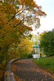 Arbour. In autumn lane. Photo Stock Image