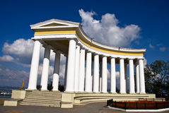 Arbour. A colonnade is in Odessa, Ukraine. Arbour of count Voroncov Royalty Free Stock Photography