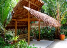Arbour. In the  tropic garden Royalty Free Stock Image