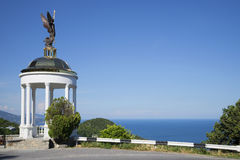 Arbour with an angel on the southern coast of Crimea. Ukraine Royalty Free Stock Photography