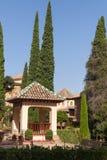Arbour in Heneralife gardens, Alhambra, Spain Stock Image