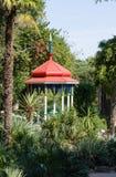 Arbour. Nikita Botanical Garden. Gazebo in the Lower Park. Nikita Botanical Garden. Crimea, Yalta Royalty Free Stock Photography