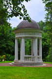 An arbour in Ostafievo estate in Podolsk district, Moscow region, Russia. An arbour in the park of Ostafievo estate Russian Parnas in Podolsk district, Moscow Royalty Free Stock Image