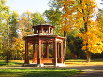 Arbour in the park in autumn Stock Photos