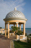 Arbour on quay. In Sochi Stock Image