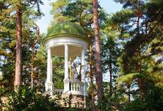 Arbour (rotunda) in Jurmala. Latvia. Arbour (rotunda) among the pine forest of Jurmala. Latvia Royalty Free Stock Images