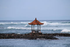 Arbour on see side. Bali, Candidasa, Indonesia Royalty Free Stock Photo