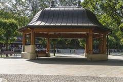 Arbour. Summerhouse in the Park in city Krynica Górska in Poland .Europe Stock Image