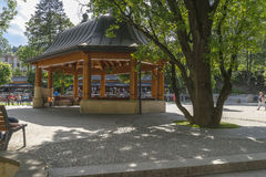 Arbour. Summerhouse in the Park in city Krynica Górska in Poland .Europe Royalty Free Stock Images