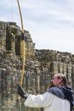 arboured Medeltida skärm Warkworth Northumberland england UK arkivfoton