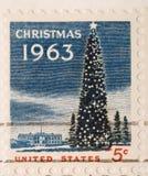 Arbre 1963 de Noël de cru photographie stock libre de droits