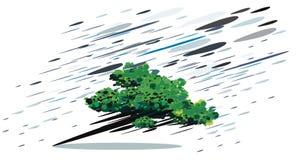 Arbre abstrait dans la tempête illustration stock
