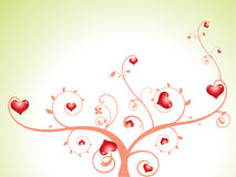Arbre abstrait de coeur avec des florals Photo libre de droits