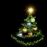 arbre abstrait de spirale de Noël illustration stock