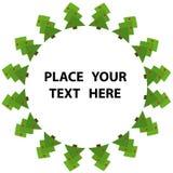 arbre abstrait de vert de Noël Images libres de droits