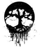 Arbre abstrait grunge Image libre de droits
