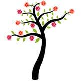 Arbre avec des fleurs Photographie stock libre de droits