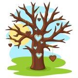 Arbre avec le coeur Image libre de droits