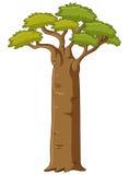 Arbre avec le grand tronc illustration libre de droits
