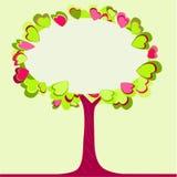 arbre blanc de coeur de copyspace Photos stock