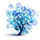 Arbre bleu Photo libre de droits
