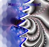 Arbre bonnes fêtes et de Noël Image stock
