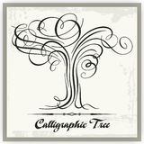 Arbre calligraphique Photo stock