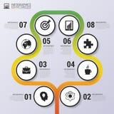 Arbre coloré abstrait Calibre infographic de chronologie Vecteur Image libre de droits