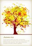 Arbre coloré d'automne avec l'espace pour votre texte illustration de vecteur