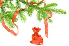 arbre conifére de cadeaux de Noël dessous Photos stock