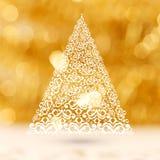 Arbre créatif de Noël pour le Joyeux Noël Images libres de droits