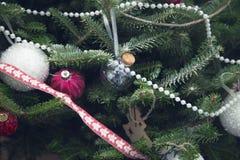 Arbre décoré de cristmas Images libres de droits