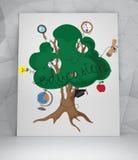 Arbre d'éducation avec des icônes Image stock