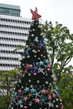 Arbre d'étoile de Noël Photographie stock