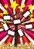 Arbre d'étoiles avec le film Negative_eps Photo libre de droits