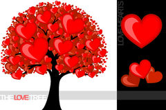 Arbre d'amour Photo libre de droits
