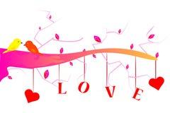 Arbre d'amour Image libre de droits