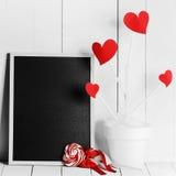Arbre d'amour dans le pot de fleur Images stock