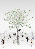 Arbre d'argent Image libre de droits